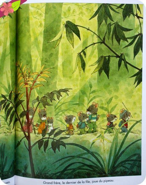 Les 4 saisons de la famille Souris, texte et illustrations de Kazuo Iwamura, publié en 2013 par l'école des loisirs