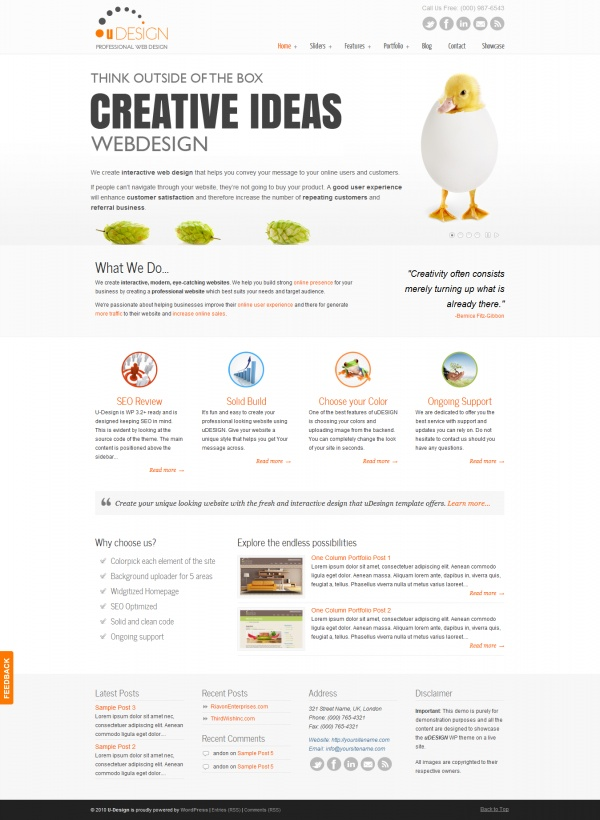 Udesign Wordpress template