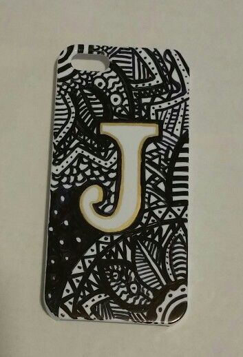 Hand drawn sharpie phone case