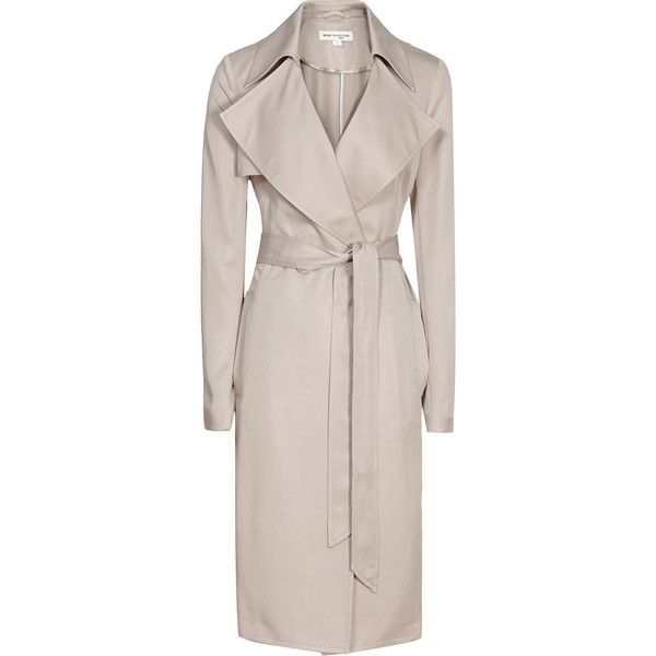 Reiss 1971 Radzi Relaxed Trench Coat (€415) ❤ liked on Polyvore featuring outerwear, coats, jackets, tiramisu, belted coat, pink trench coat, trench coat, reiss coat and reiss