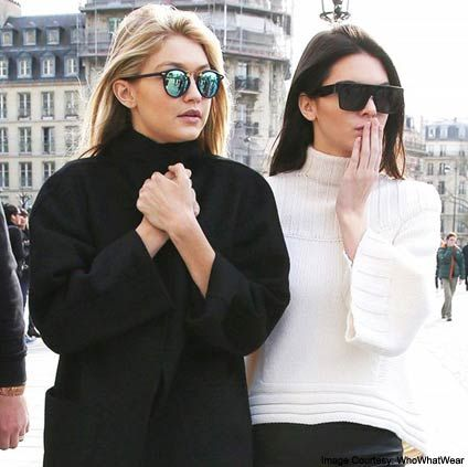 KENDALL JENNER AND GIGI HADID  They're best friends, everyone knows that but, what most of their fans don't know is that the two once shared the same families. The ex-step-siblings shared the same family at one point, with Gigi's mom, Yolanda, having been married to Linda Thompson who, in turn, became the wife of Caitlyn Jenner who was once married to Kendall's mom, Kris. Get it?