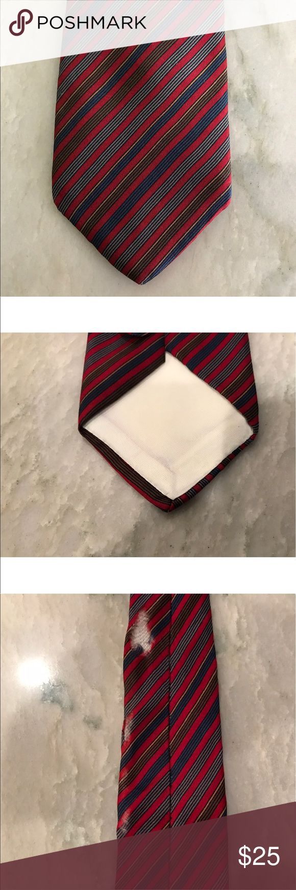 Christian Dior Cravates Vintage Tie Up for sale is a Vintage Christian Dior Cravates from Saks Fifth Avenue Tie.  Yes. I know this Tie isn't in perfect condition. There is a tear in the back but this is such a beautiful Tie and otherwise in great condition l Christian Dior Accessories Ties