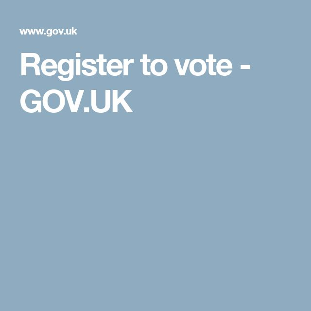 Register to vote - GOV.UK
