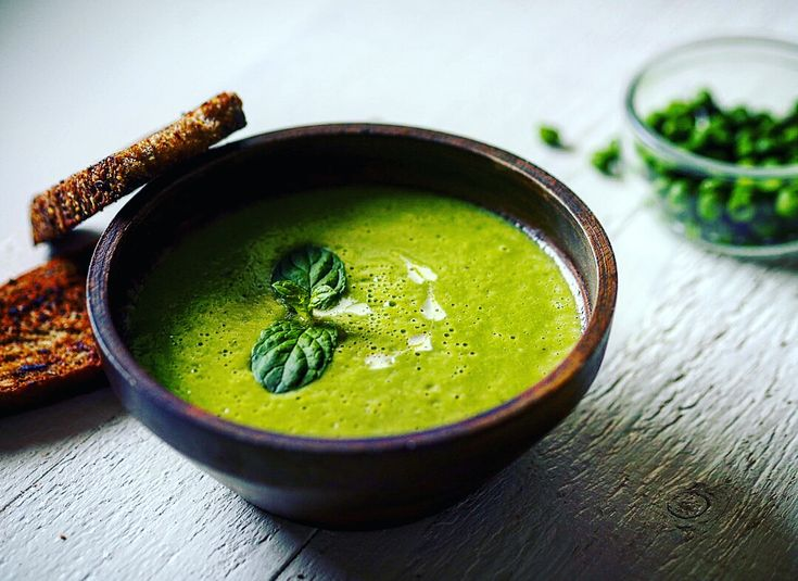 Veganská polévka ze sladkého hrášku - Detox chutně