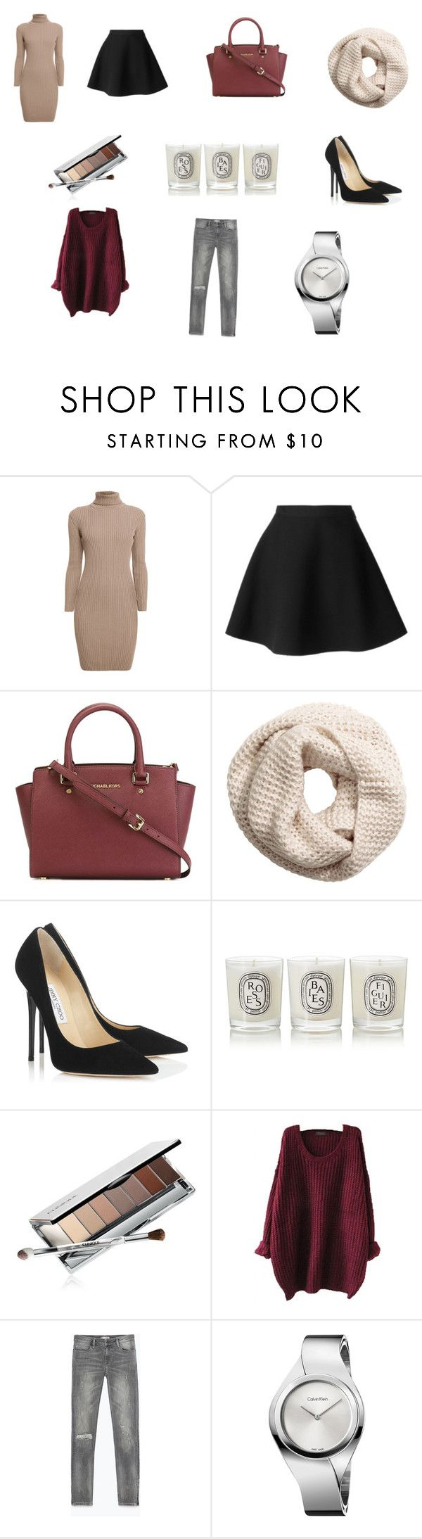 """""""Everyday stuff"""" by mousouza on Polyvore featuring Rumour London, MSGM, MICHAEL Michael Kors, H&M, Jimmy Choo, Diptyque, Clinique, Zara and Calvin Klein"""