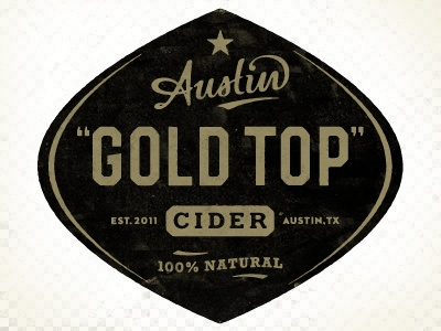 Designspiration — Dribbble - Austin Eastciders label by Simon Walker