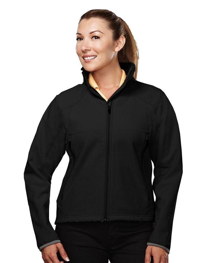 Women's Soft Shell Jacket Poly Stretch Bonded   6420 Ascent #Jacket
