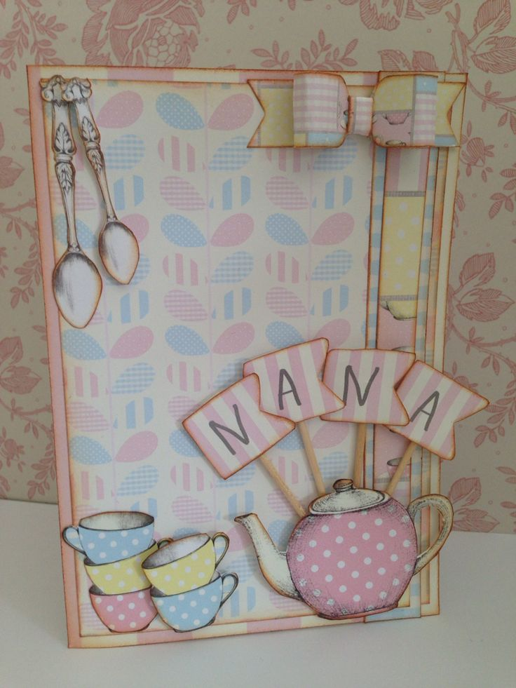 Craftwork Cards 'Love a Cuppa' collection. This one was for my Nan
