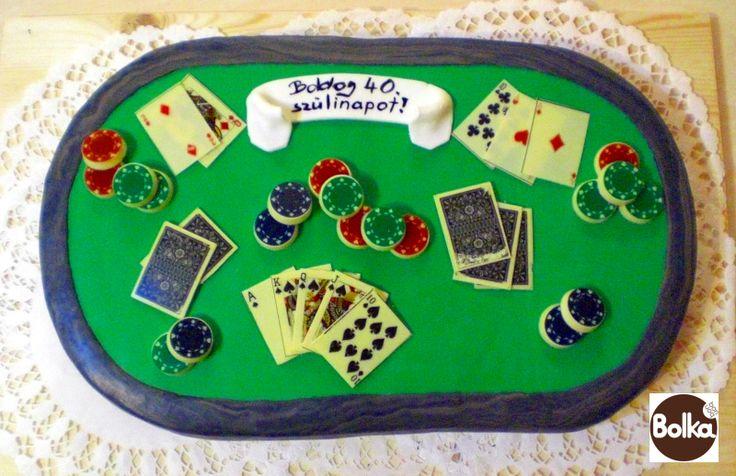 Decorated cake/dísztorta (poker table/pókerasztal - 40 fős)