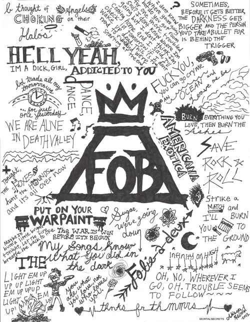 Image result for fall out boy lyrics