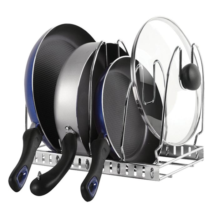 Cookware Organizer Chrome - Solutions - Your Organized Living Store