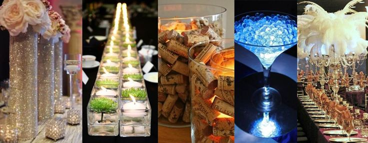 Create your own Centrepieces for that WOW factor at your next Event