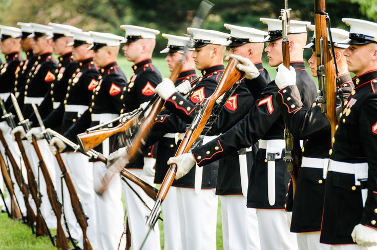 2014 US Marine Corps Sunset Parade at the Iwo Jima Memorial