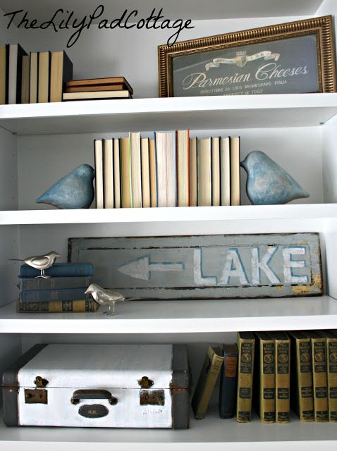 Bookcase Styling | The Lilypad Cottage.