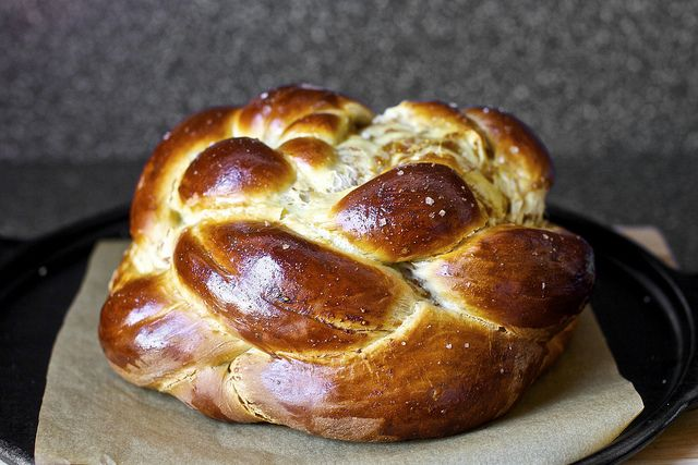 ... Fig, Olive Oil, and Sea Salt Challah from Smitten Kitchen. #Hanukkah