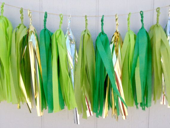 Irish Clovers Tissue Paper Tassel Garland   Party  by ThePaperJar, $34.50