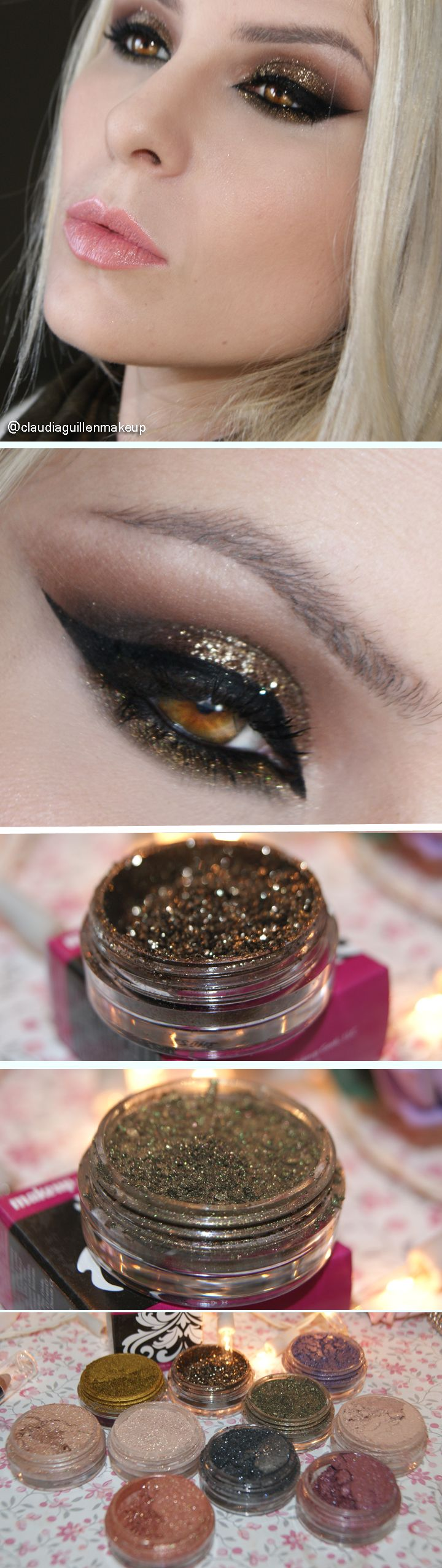 make com os pigmentos make up geek, Utopia e Kryptonite http://claudiaguillen.inbloodesign.com/
