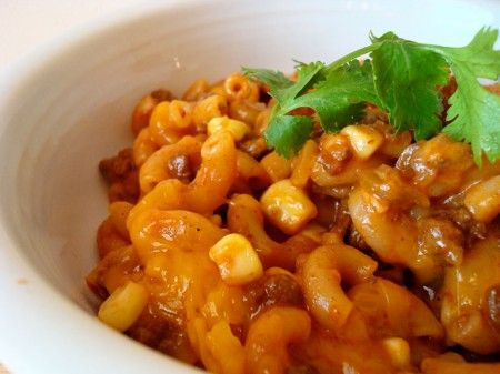 Skillet Chili Mac...Easy and really good. I'll use more corn next time and I used about half the cheese.