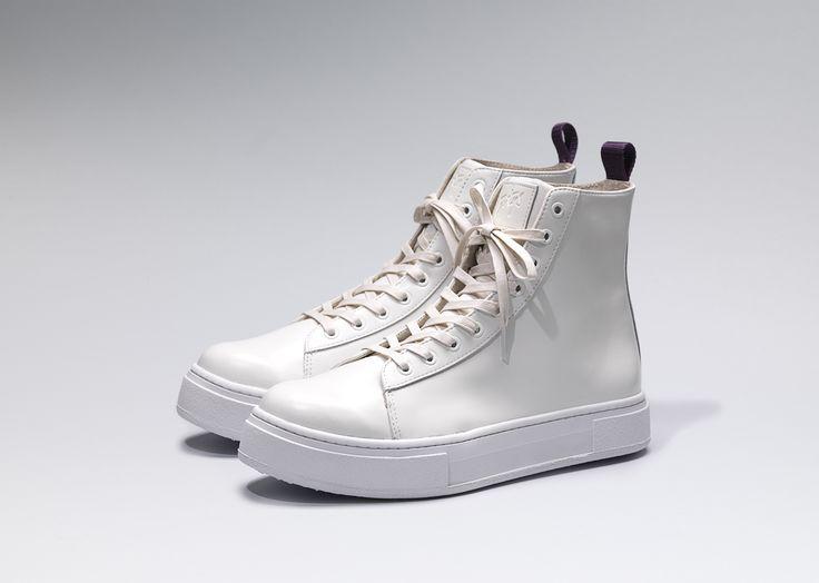 #Eytys Kibo Leather in All White.