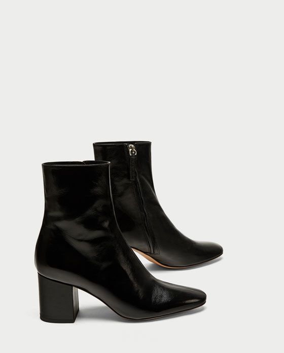7f6ca79af22 ZARA - WOMAN - LEATHER HIGH HEEL ANKLE BOOTS £90