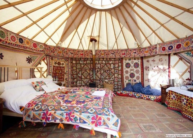This Is Beautiful Inside! B3ba5058aae9e40e8945184a2f5fa5da (800×571). Yurt  InteriorHome Interior DesignMediterranean ...