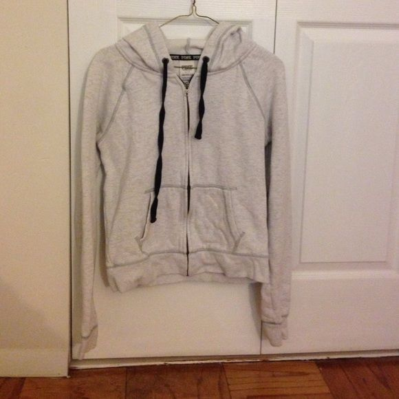 Victoria's Secret Pink Zip Up Hoodie Size S This is a Victoria's Secret Pink Zip Up hoodie. Size S. It is a grayish color. It has Love Pink on the side arms and a big Pink logo on the back. It is in good condition. Comes from a smoke free home. Firm on the price. No trades. Thanks for looking! :) PINK Victoria's Secret Tops Sweatshirts & Hoodies