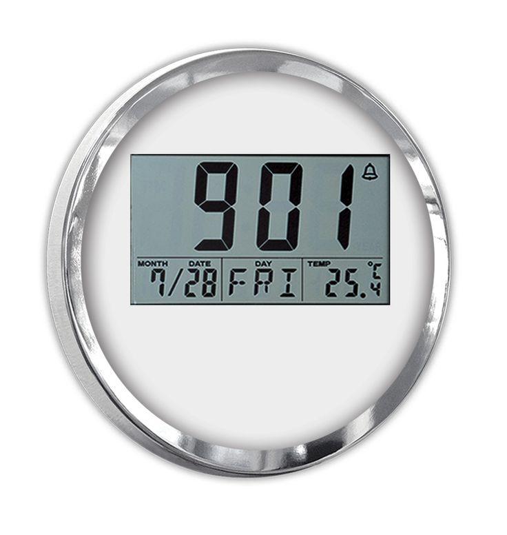Digital Özel Lüks Duvar Saati Modeli  Ürün Bilgisi ;  Boyutu : 30 cm Bir Yıl Üretici Firma Garantilidir.  Metal Krom Çerçeve Gerçek cam