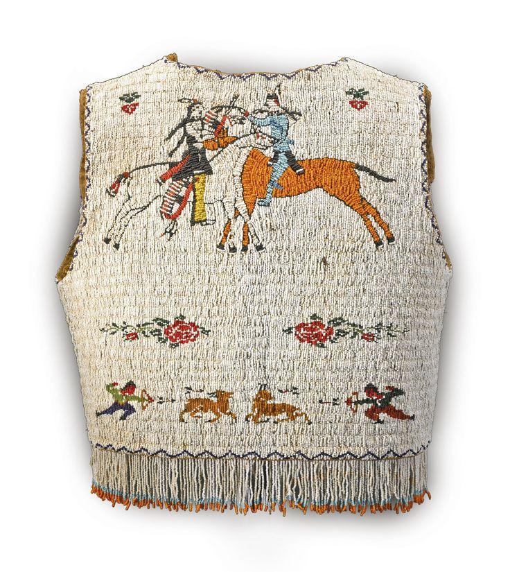 Lakota beaded pictorial vest