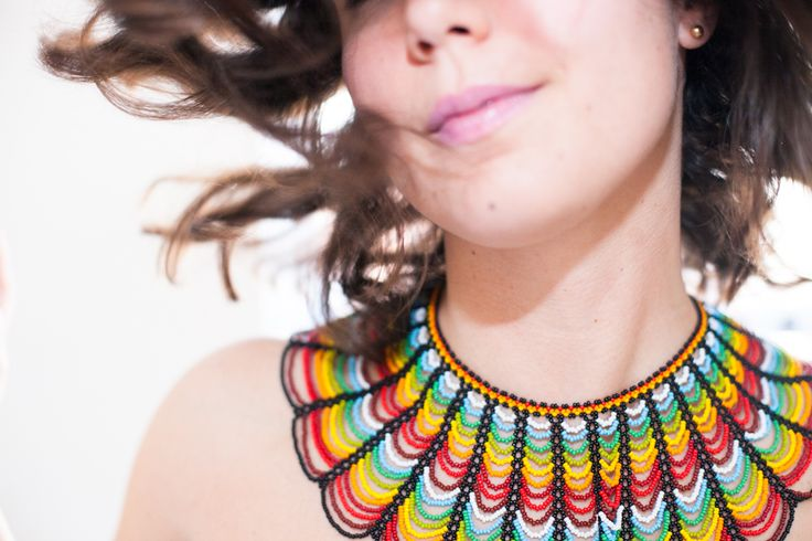 Santa Isla necklace - made in Colombia by the Embera Chami, mountain people. Each piece is made by hand and represents anywhere from 45-80 hours of work.