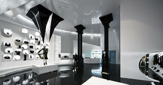 Best Design Guides Capsula A futuristic store with collections from Givenchy, Paul Smith, Blumarine, Tom Ford etc