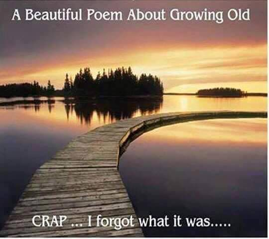 * A beautiful poem about growing old