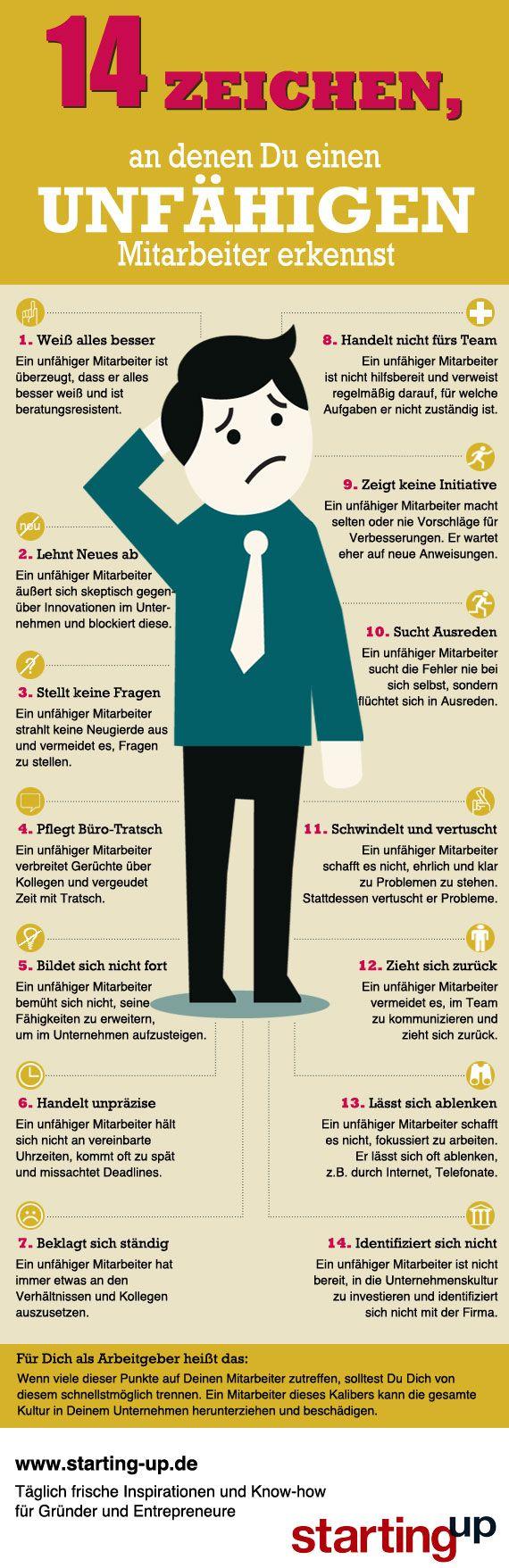 14 Zeichen, an denen du einen unfähigen Mitarbeiter erkennst