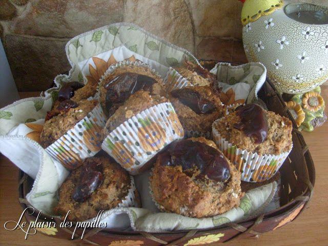 C'estla 3e recettes de muffins aux dattesque je fais et je peuxdire que celle-ciest ma préférée. J'ai déniché cette belle trouvaille c...
