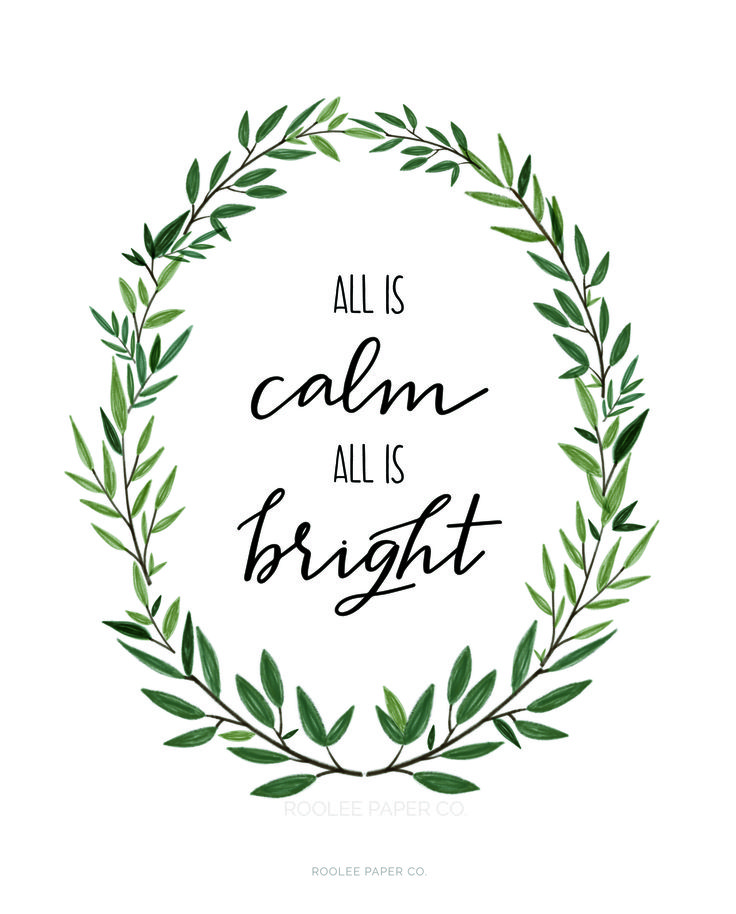 All is calm all is bright | watercolor calligraphy design inspiration | DIY art project idea