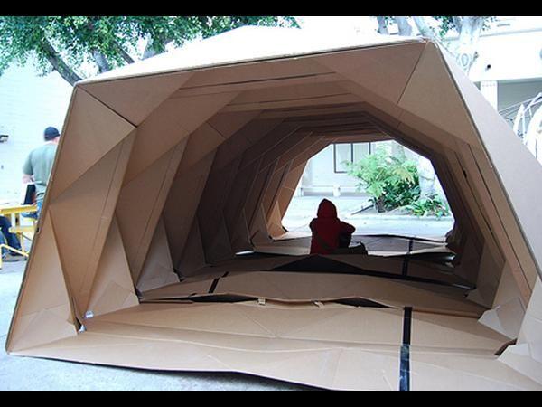 Cardboard folding portable house