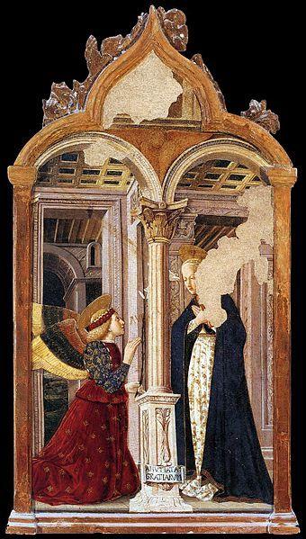 Giovanni Angelo D'Antonio - The Annunciation ( 1456-1458 )