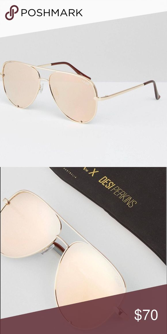 QUAY x DESI sunglasses NWT! Gold aviators Quay Australia Accessories Glasses