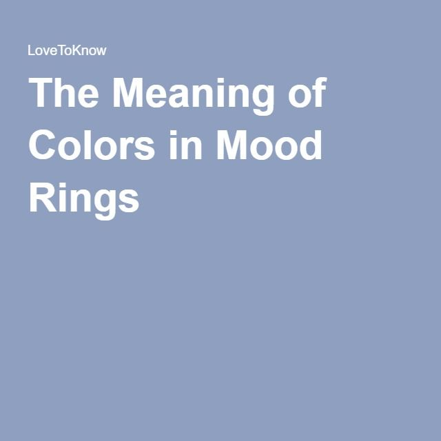 What And Color Ring Pics It Mood Means