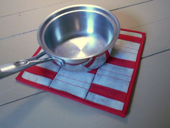 Fire hose trivets are a great way to keep the heat of a hot pot from off your table. Because these trivets are made from decommissioned fire