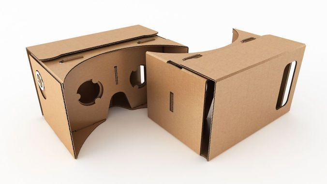 Google cardboard virtual reality headset | 3D Model