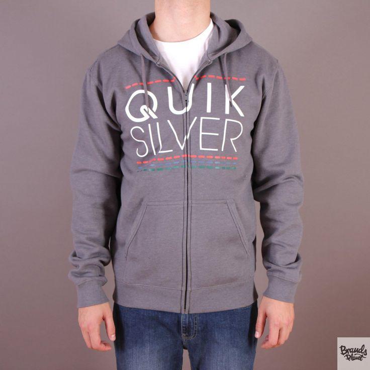 Szara bluza męska rozpinana z kapturem Quiksilver Hood Zip Good H4 Medium Grey Heather - kolekcja Fall/Winter 2014 / www.brandsplanet.pl / #quiksilver