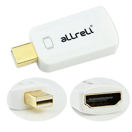 aLLreli Mini Displayport vers HDMI Adaptateur Portable - Mini DP vers HDMI Convertisseur Full HD 1080p pour Apple Macbook, Macbook Pro, Imac, Macbook Air, Mac Mini Laptop - avec Video + Audio (Blanc) - Thunderbolt Compatible aLLreli http://www.amazon.fr/dp/B00MWUINI2/ref=cm_sw_r_pi_dp_jASsvb1GBFT3K