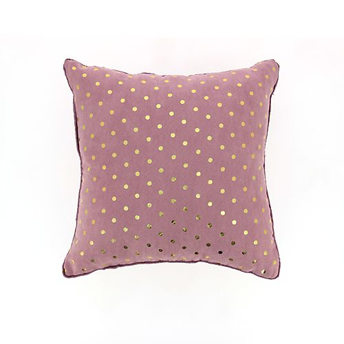 Nodus - Coussins décoratifs-Textiles, Tapis Coussin en micro suédine rose et à…