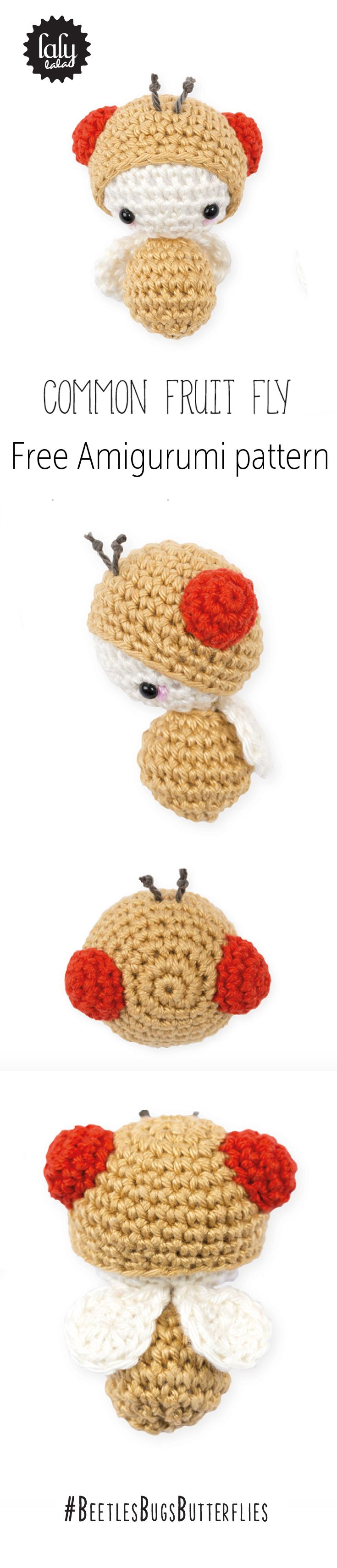 Who would have thought the Common Fruit Fly could be so cute! This cute creature is an extra from Lalylala's new book Beetles, Bugs and Butterflies.