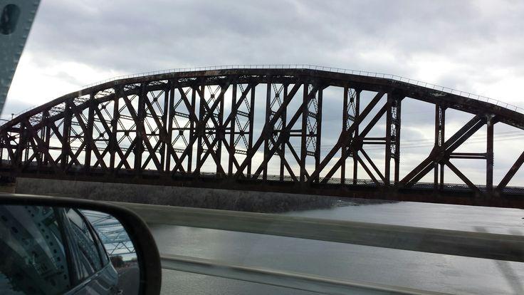 Railroad bridge over the Hudson River near Albany NY