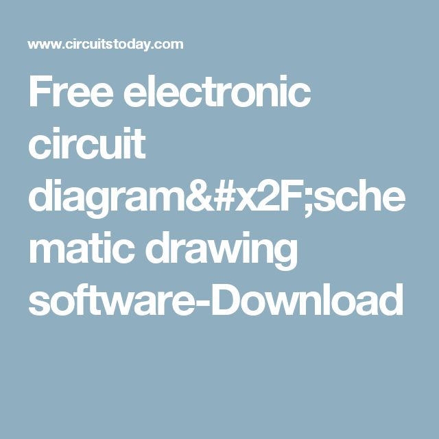Free electronic circuit diagram/schematic drawing software-Download