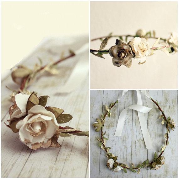 White+Gold+Rose+Floral+Crown+Flower+Crown+by+rosesandlemons,+$38.00