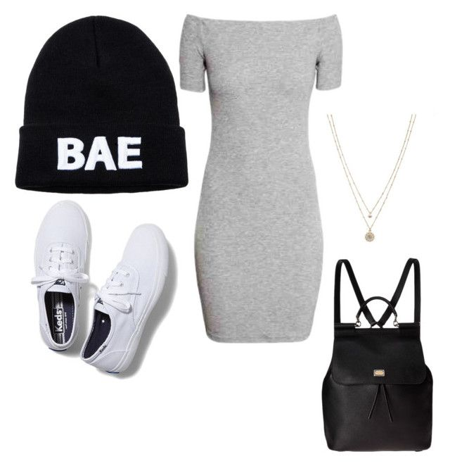 """im bae"" by raque-santacruzv on Polyvore featuring Domo Beads, Keds, Dolce&Gabbana and LC Lauren Conrad"