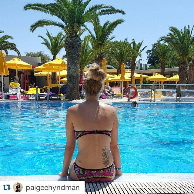 #Repost @paigeehyndman ・・・ I'd like to go back now  #Holidayblues #Kos #Greece #Pool #Bikini #Tattoo #Missthisplace #Nofilterneeded https://www.instagram.com/kipriotishotels/