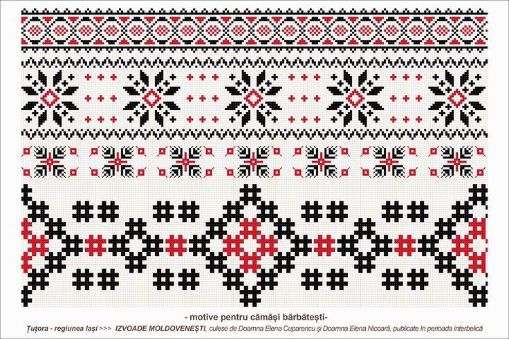 Semne Cusute: traditional romanian motifs - MOLDOVA - Iasi, sat: Tutora